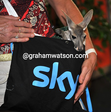 Team Sky has a new mascot for the coming season...