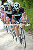 Duty calls anyway - Cancellara recovers in time to pace Schleck back up the peloton...