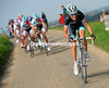 Andy Schleck delivers a big attack over the Keuterberg summit...