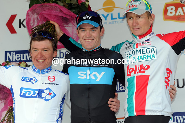 Chris Sutton celebrates his biggest win with Hutarovich and Greipel - well played Team Sky..!