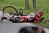 Some crashes are occurring now - Simon Zahner is a faller for BMC....