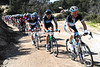 Fabian Wegmann and Alex Dowsett are chasing on the badly-surfaced Col de Saint-Eustache...
