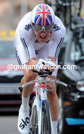 Bradley Wiggins was just four seconds off winning stage 3..!