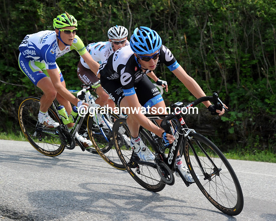 Dan Martin is a man also looking to leap up the G.C on today's final climb...