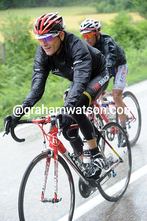 Jani Brajkovic seems to like the rain, is that's why he's smiling..?