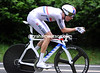 Bradley Wiggins raced through during the wettest conditions but still took 2nd place,  just eleven-seconds down...