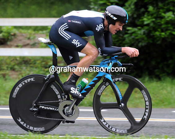 """Geraint Thomas also rode a great time trial - the Welshman took 7th at 1' 36""""..."""