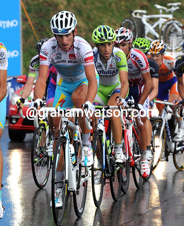"""A sorry group of men is led by Roman Kreuziger who, together with Nibali, Anton, Rodriguez and Scarponi, will lose 1' 36"""" today..."""