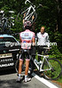 No, it's a new bike that Contador wants - his SaxoBank mechanic obliges...