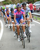 Spezialletti leads the Maglia Rosa group, slowly...