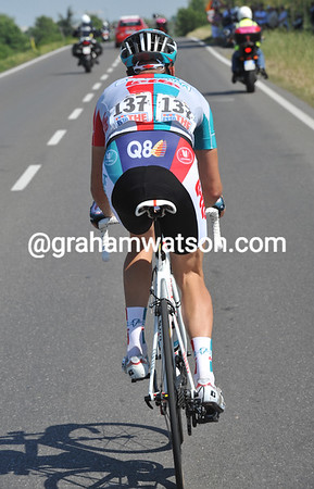 Only 244-kilomeytres to go - Sebastian Lang has attacked after one-kilometre of this longest Giro stage..!