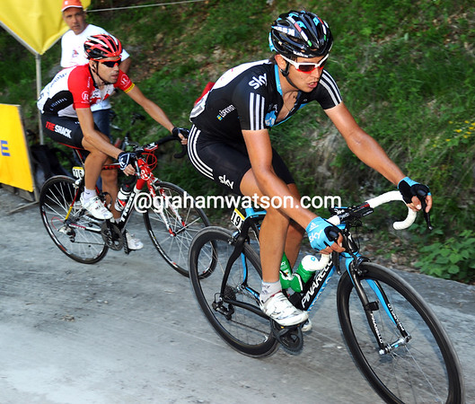 Thomas Lovkvist is further back still - he'll be glad to finish the Giro tomorrow...