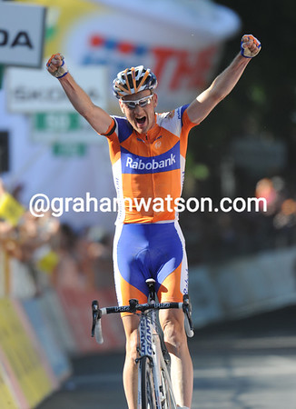 Peter Weening wins stage five into Orvieto...
