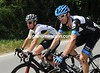 David Millar and Mark Cavendish discuss their spells of bad luck in yesterday's gravel-road stage...