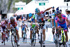 Bart de Clercq has won stage seven - but by less than half a bike-length from Scarponi..!