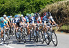 Saxo Bank cause confusion but an increase in tempo as they swarm to the front in the last 10-kilometres...