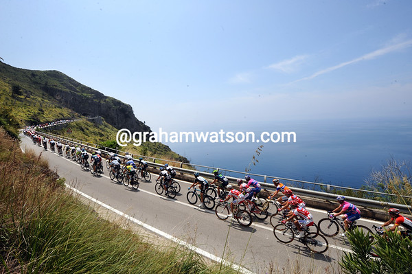 Who needs Highway One and California when you've got the Basilicata coastline and the Giro d'Italia..?