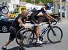 Brits on tour, 2: Geoff Brown gives a helping hand to fellow Brit David Millar...