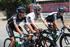 Brits on tour - Mark Cavendish is holding court at the back of the peloton with Peter Kennaugh and Russell Downing...