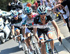 Frank and Andy Schleck have attacked on the nasty climb of the Cote de le Roche aux Fauçons - and Philippe Gilbert is with them...