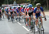 A Livestrong-Trek rider is setting a ferocious pace in the chase...