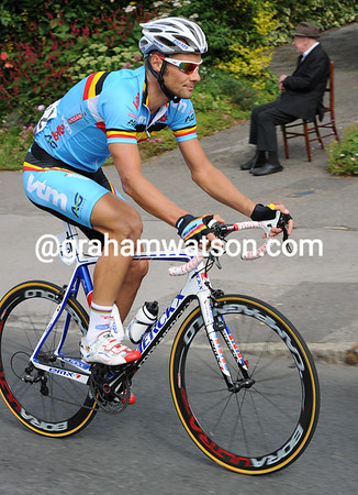 Is Tom Boonen in with a chance of winning today..?