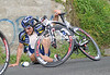 Romain Feillu proves how slippery the road really is...