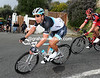 Cancellara descends ahead of George Hincapie - there's something important going on now...