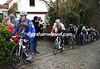 Tom Boonen stretches his legs on the Taaienberg - ahead of Hushovd and Flecha, no less...