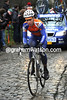Sebastian Langeveld has emerged in front of the Molenberg - he attacked on the Taaienberg and will stay away for over 50-kilometres..!