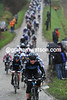 Ian Stannard leads the chase for Sky on the second lap of cobblesd circuit at Hoghaide
