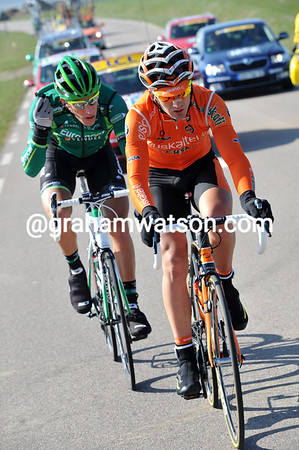 Gorka Izaguirre and Damien Gaudin are away with a six-minute lead after just 35-kilometres...