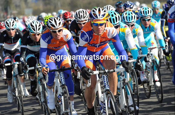 Teams Rabobank and Astana are chasing hard - Voigt is considered a dangerous man today..!