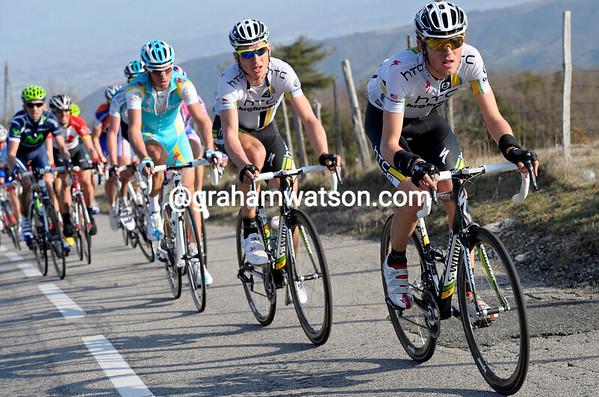 Van Garderen is pacing Martin towards the summit...