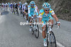 Alexandre Vinokourov sets the pace on the day's biggest ascent - before blowing up..!