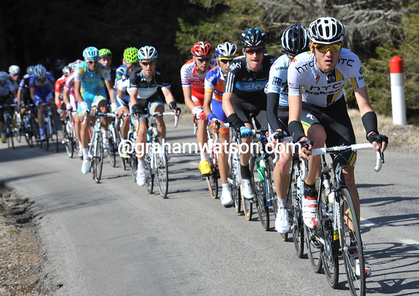 Tejay Van Garderen is leading a counter-attack with riders like Rogers, Garate, Leipheimer and Taaramae in it...