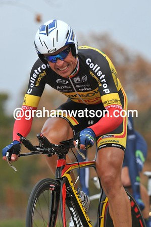 """Stijn Devolder rode his first TT of the season and his first TT as Champion of Belgium - he took 17th at 1' 47""""..."""