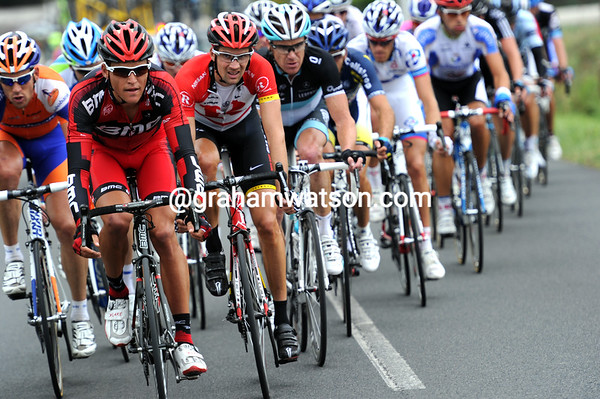 Greg Van Avermaet is leading the leading group in pursuit of the Clarke escape...