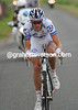 Arnaud Gerard accelerates away from the front group...