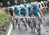 Astana makes a last effort to haul the escape in on the Col de Pillon, but they won't get near them today...