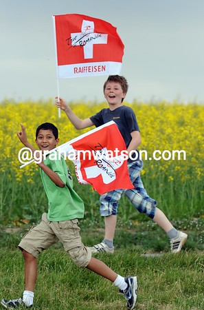 What are these young Swiss fans getting so excited about..?