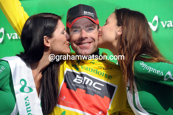 Cadel Evans is the new race-leader of the Tour de Romandie with just one more hilly stage to go..!