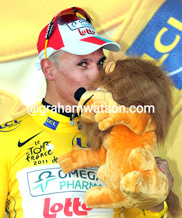 Philippe Gilbert is the first race-leader of this Tour de France!