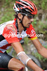 Ouch - Andreas Kloden bears the scars of a big crash on the first descent...