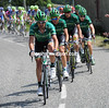 Europecar leads the chase, a French team in control on Bastille Day...