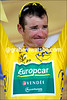 For once, Thomas Voeckler is not smiling on the podium - is he finally getting tired on the eve of the Alps..?