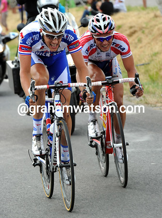 Terpstra and Ignatiev have survived to the outskirts of Montpellier, because the peloton never really chased hard...