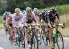Ten men have finally got away - and Boasson-Hagen and Martin are leading the way..!
