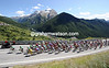 The peloton hasn't changed its pace nor its leaders as it too climbs to Sestriere...