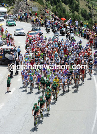 The peloton is under the quiet control of Europcar and Thomas Voeckler...